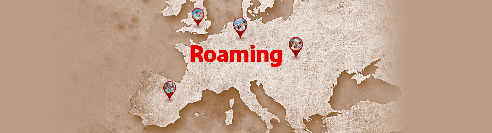 Vodafone Pas Pantou Communicate freely from abroad, with only 2.99€/day in European Union countries